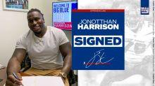 Giants sign veteran OL Jonotthan Harrison