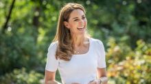The Duchess of Cambridge wears £30 Marks & Spencer pink trousers to meet parents in Battersea Park