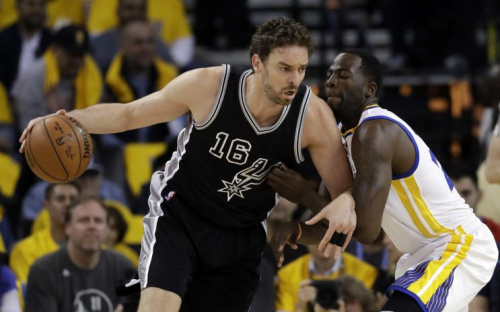 Pau Gasol averaged 12.4 points and 7.8 rebounds a game for San Antonio. (AP)