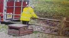 Hilarious footage shows UK man falling face-first into mud over broken wooden fence