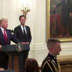 President Trump says US Navy ship USS Boxer shot down Iranian Drone