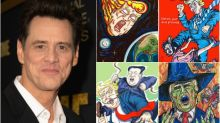 Jim Carrey explains why he's done painting Trump-skewering political art