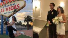 Fabio Porchat renova votos com Nataly Mega em Las Vegas