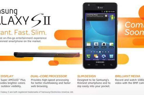 Samsung Galaxy S II makes its AT&T debut October 2nd for $199 on contract