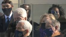Bill Clinton appears to fall asleep at inauguration