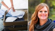Woman's shock discovery in her bag when airlines returns missing luggage