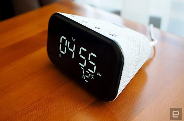 Lenovo's Smart Clock Essential is half off at Walmart and B&H