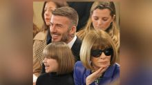 Harper Beckham twinned hairstyles with Anna Wintour and it was amazing