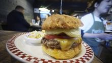 Trump's cheeseburger in Japan still drawing lines