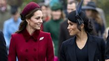 Body language expert says Kate Middleton and Meghan Markle were 'trying too hard' to appear friendly
