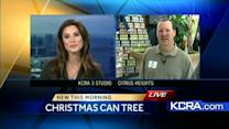 Salvation Army builds Christmas tree one can at a time