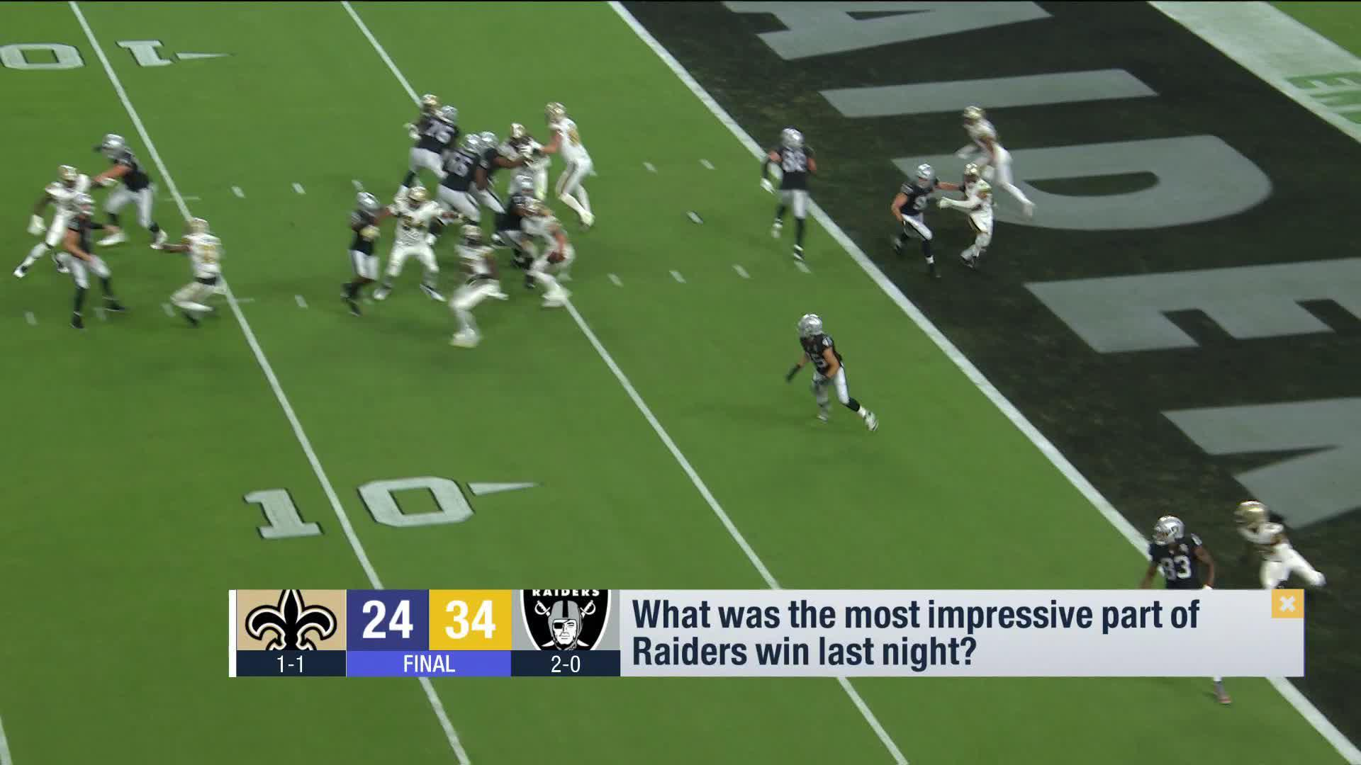 Gmfb Breaks Down Raiders Impressive Win Over Saints Video