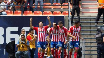 2-1. San Luis consigue su primera victoria del Clausura sobre el Cruz Azul