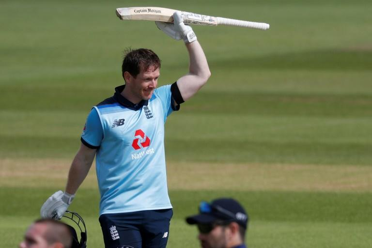 England's Eoin Morgan made his ODI debut for Ireland in 2006 (AFP Photo/Adrian DENNIS)