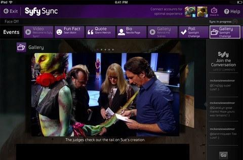 Syfy for iPad app adds Sync feature, second screen content launches Tuesday with Face Off (video)