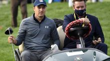 A ball wedged in trees just part of Jordan Spieth's roller-coaster U.S. Open first round
