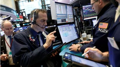 Stocks lower as US yields climb, commodities drop