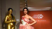 Rani of the Ramp: Deepika On the Catwalk for Gauri & Nainika