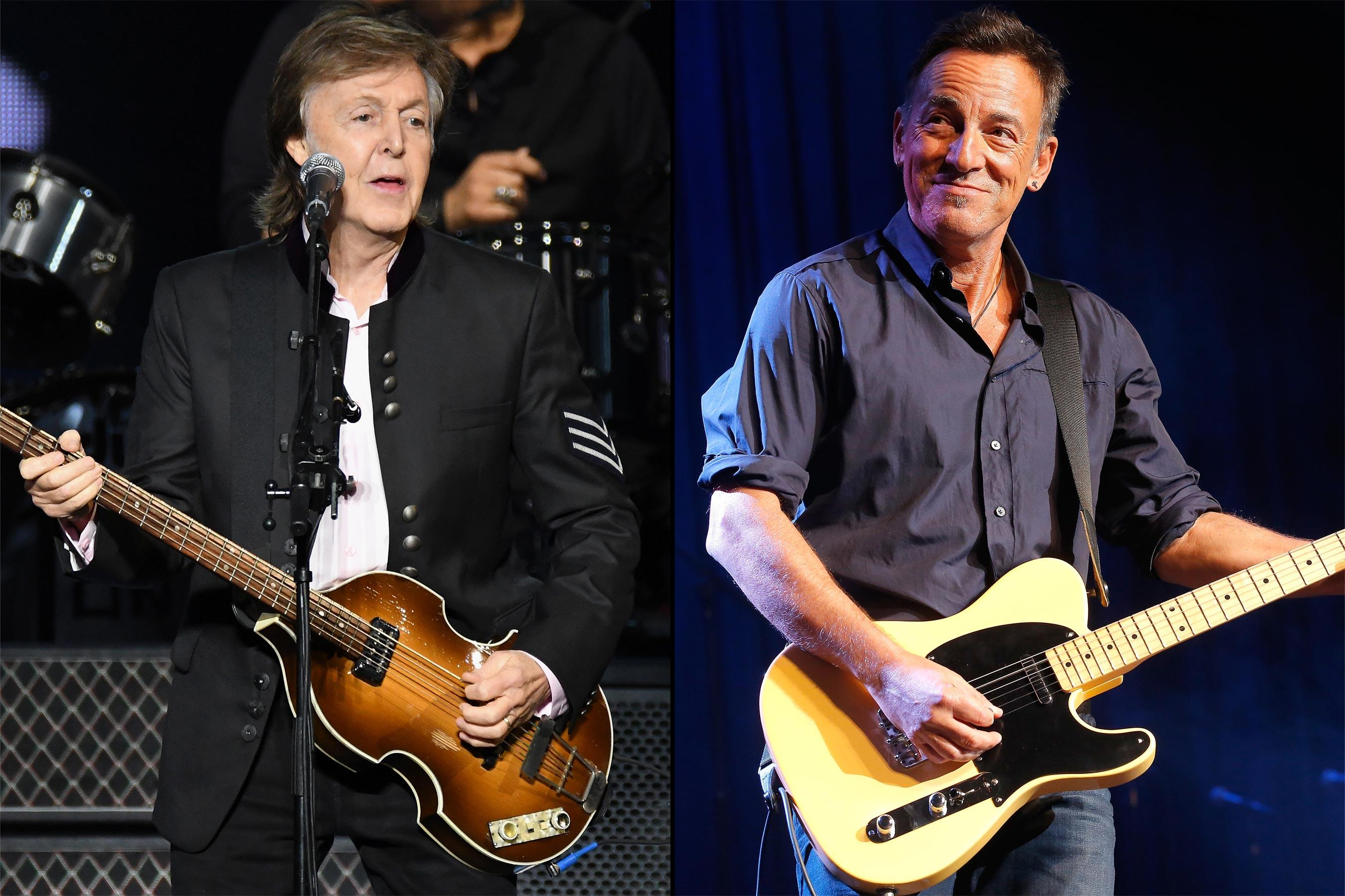 paul mccartney bruce springsteen rock to 39 i saw her standing there 39. Black Bedroom Furniture Sets. Home Design Ideas