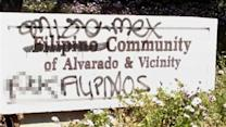 Racist graffiti in Union City targets Filipinos