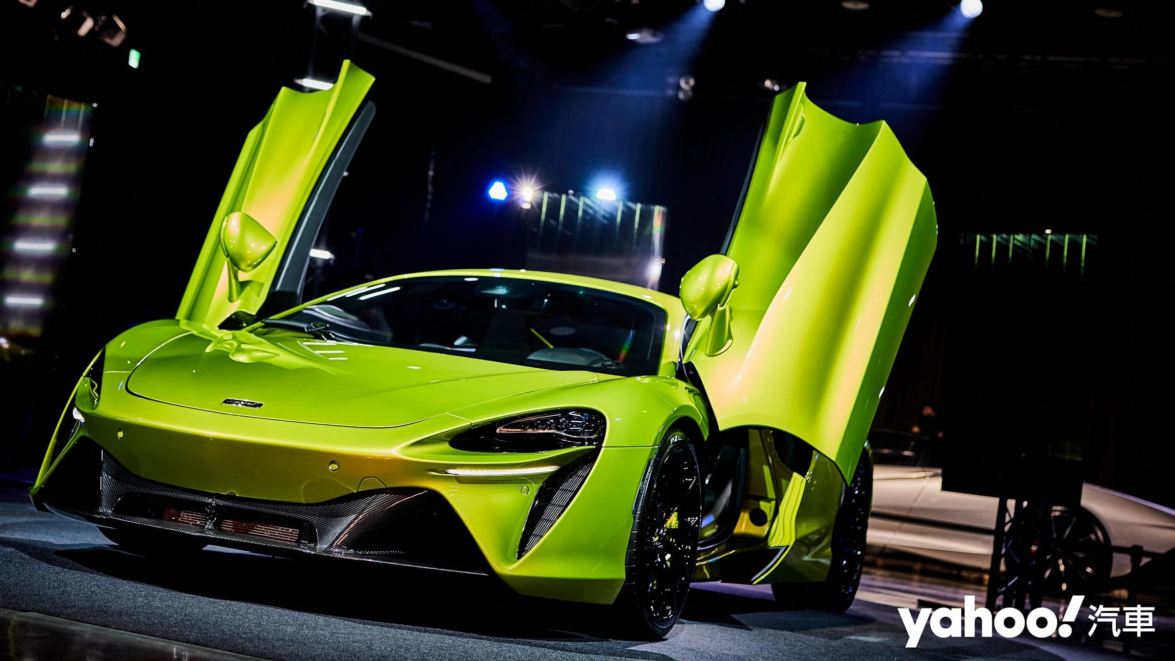 【新車圖輯】全球實車首亮相就在台灣!2021 McLaren新世代油電超跑Artura特急發表!