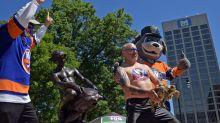 Worcester radio DJ becomes chest-painted 'Turtle Boy' after losing Bruins-Islanders bet