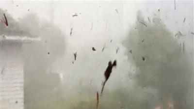 Raw: Tornado batters New Zealand suburb