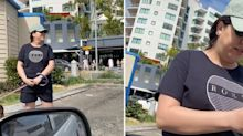 'You can't do that': Furious debate over woman's 'rude' car park act