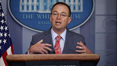 Can Mulvaney survive storm over Ukraine remarks?