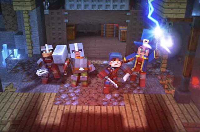 Meet 'Minecraft: Dungeons,' an adventure game with online co-op