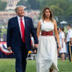 Trump returns to defense of statues, attacks media in July 4th remarks