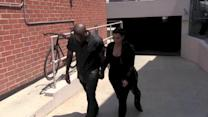 Kanye West Smashes His Head on Date With Kim