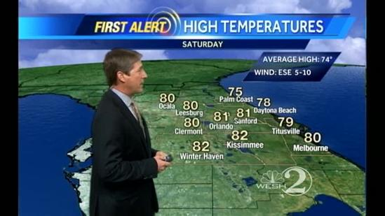 Saturday Outlook: Warm, Spring-like day, Isolated Showers