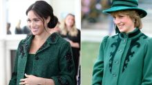 10 Times Pregnant Meghan Markle Channeled Princess Diana's Maternity Style