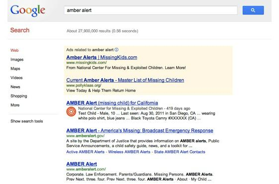 Google adds AMBER Alerts for missing children to Search and Maps