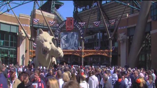 Fans geared up for Opening Day at Comerica Park