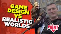 Game Design vs. Realistic Worlds - The Point