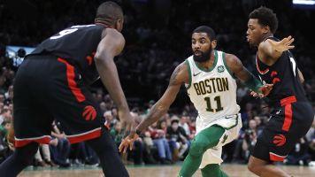 Career night from Kyrie leads Celtics past Raptors