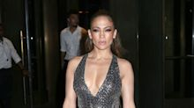 J-Lo defies her 47 years in glittering form-fitting ensemble