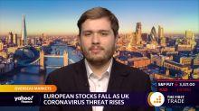 European stocks fall as UK coronavirus threat rises