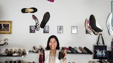 Designer who invented 'foldable' shoes during the financial crisis now turns over £1m