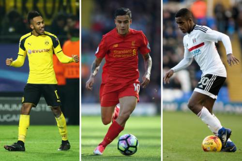 Transfer targets: Aubameyang, Coutinho, Ryan Sessegnon