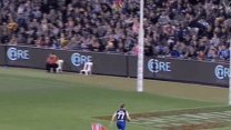 Aussie rules football player switches teams mid-play