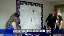 Local Girl Makes Quilt To Inspire Breast Cancer Patients