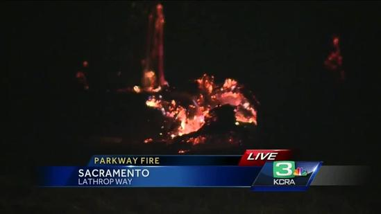 Fire chars 50 acres along American River Parkway