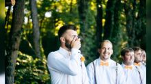 Groom has incredibly emotional reaction to seeing his bride