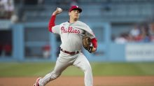 Phillies hold Dodgers to 3 hits, lose 3-1