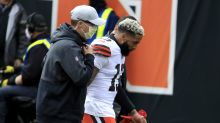 Browns' Odell Beckham Jr. injured on Baker Mayfield INT, won't return for Bengals game