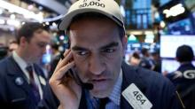 Global stocks end flat, U.S. Treasury yields fall after Powell report
