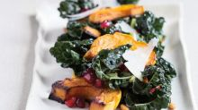 Roasted Winter Squash with Kale & Pomegranate Seeds from 'The Yellow Table'